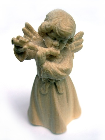 Angel with flute photo