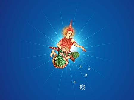 Khmer nouvelle année bénédiction Angel