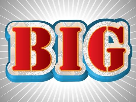 Big Write in Big Emboss Font Vector