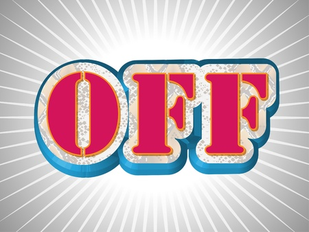 Off Write in Big Pink Emboss Font Stock Vector - 9482699