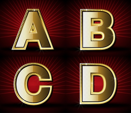 Vector Luxurious Gold Diamond Alphabet Stock Vector - 9617268