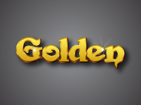 Vector illustrator format. Designed with big font in golden shining color Vector