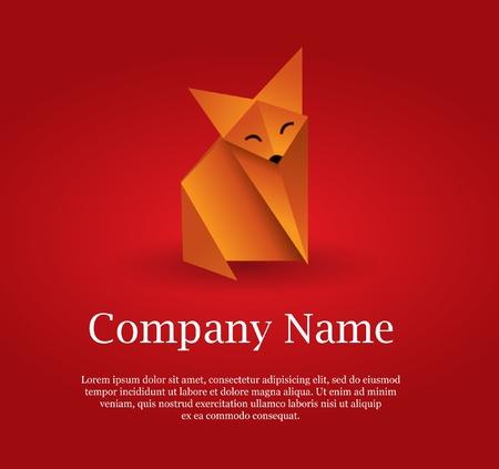 freedom logo: Fox origami