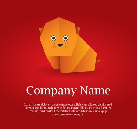 Origami Cat Stock Vector - 10415605