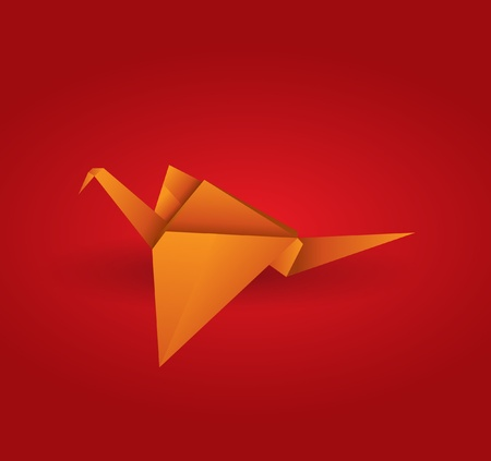wing logo: Origami