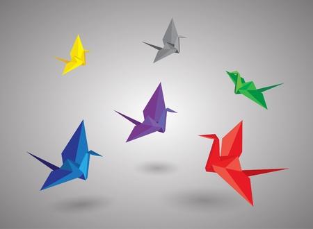 freedom logo: Los p�jaros de origami Vectores