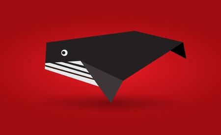 Origami Whale Illustration