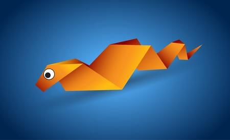 origami snake: Origami Snake