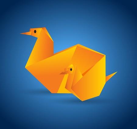 Origami Animal Stock Vector - 10429382