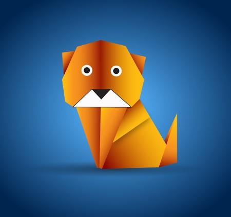 Origami Dog Vector