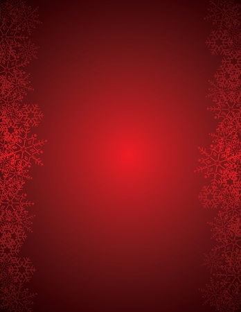 red christmas pattern with snowflakes Vector