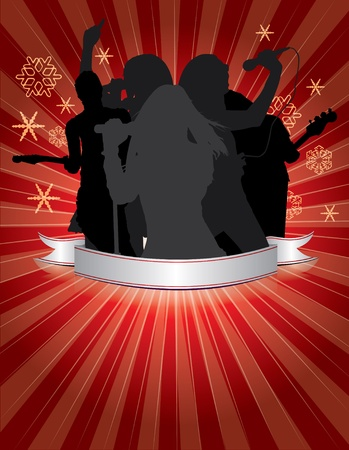 Christmas poster background  Vector