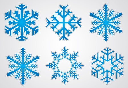 rime frost: Christmas snowflake