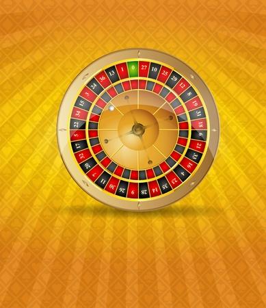 Vector illustration of 3D gloden roulette