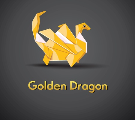 Vector Golden Dragon 2012 Stock Vector - 11101357