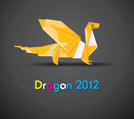 Vector Dragon 2012 Stock Vector - 11101356