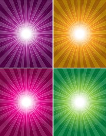 shinning: Vector de fondo a todo color con brillo de rayos