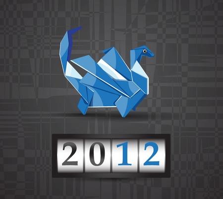 Vector origami dragon 2012 Stock Vector - 11575457