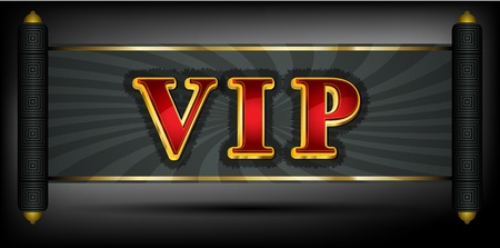 VIP write in red and golden font Vector