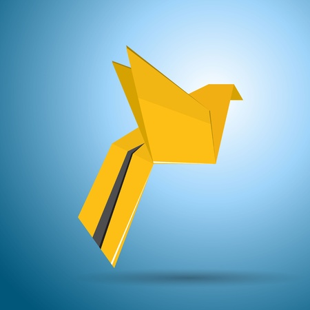 Vector origami flying bird Vector