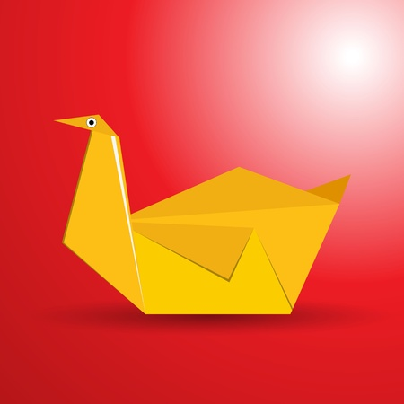 origami oiseau: Vecteur origami oiseau