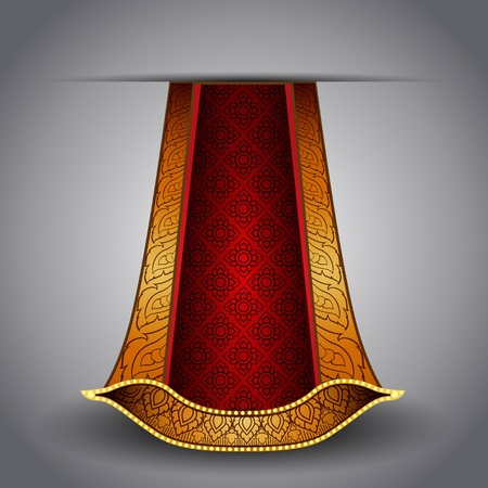 Vector luxurious royal gold-red fabric Vector