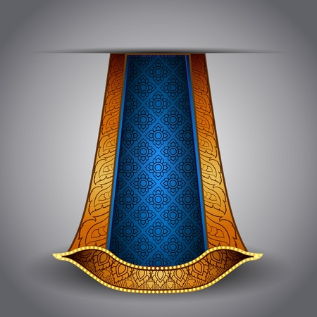 Vector luxurious royal gold-blue fabric Vector