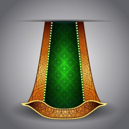 Vector luxurious royal gold-green fabric Vector