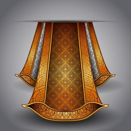 Vector luxurious royal gold-silver fabric Vector