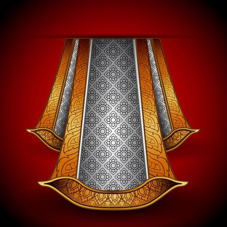 Vector luxuus royal gold-silver fabric Stock Vector - 11575501
