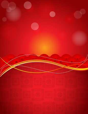 chinese background: Vector Chinese poster theme Illustration