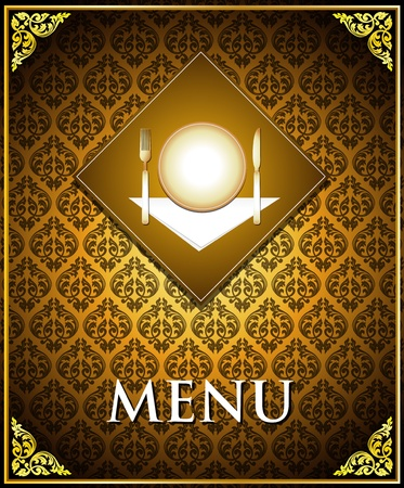 Vector food menu cover template Vector