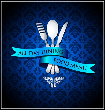 Vector dining food menu cover