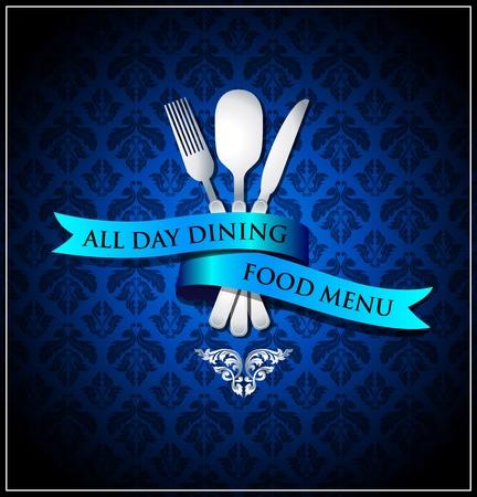 Vector dining food menu cover Vector