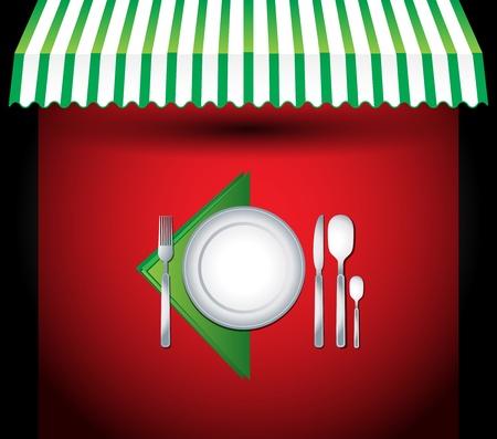 Vector restaurant cutlery