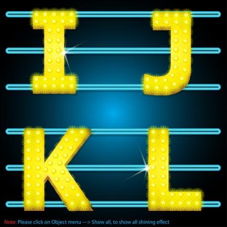 LED Shining lamps alphabet