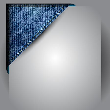 denim: Vector hecha de cinta de tela de jean de esquina