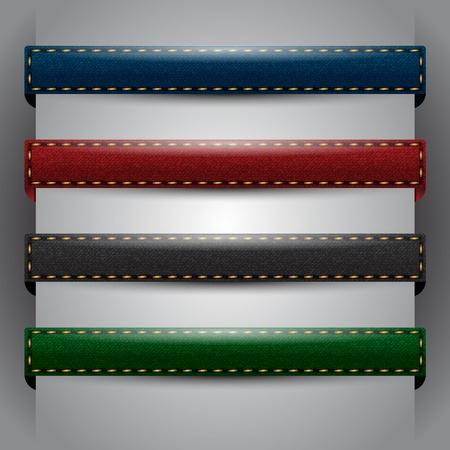 Vector jean fabric bars Stock Vector - 12849671