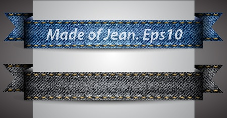 Vector made of jean fabric ribbon Vector