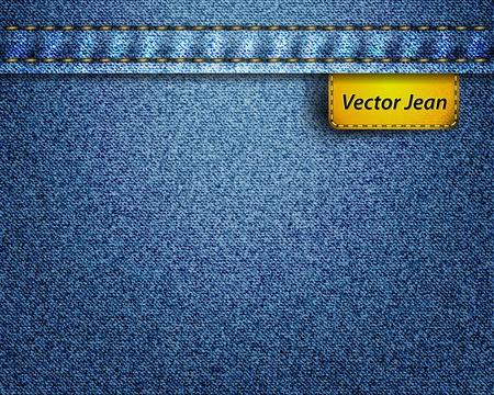 denim jeans: Vector jean fabric Illustration