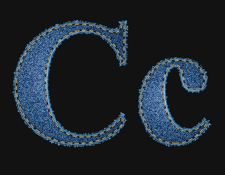 vector fabric: Vector jean fabric letters