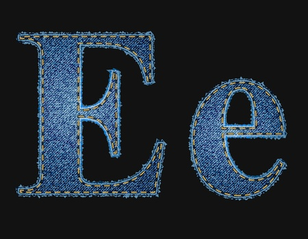 Vector jean fabric letters Vector