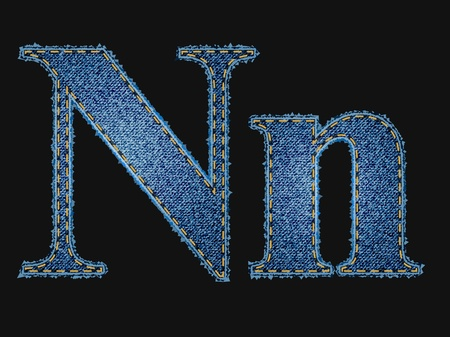 jeans fabric: Vector jean fabric letters