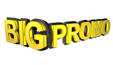 Big promo rendered in gold 3D number  photo