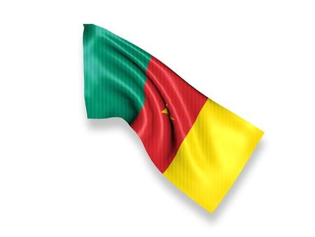 cameroon: Waving Flag Camerun