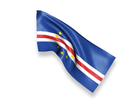 cape verde flag: Cape Verde Waving Flag Stock Photo