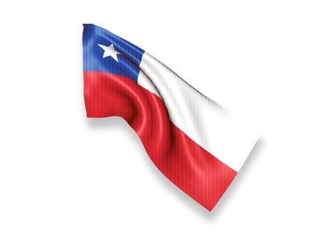 chile flag: Chile Waving Flag Stock Photo