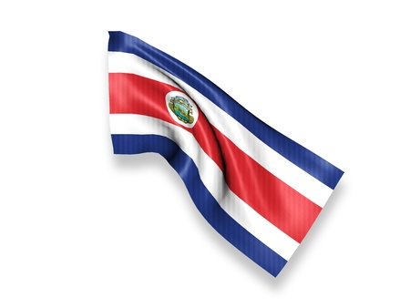 costa rica flag: Costa Rica Waving Flag