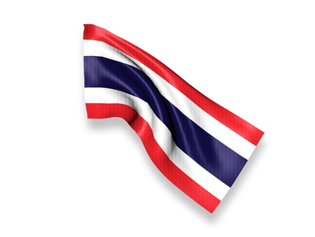 Thailand Waving Flag Stock Photo - 15733050