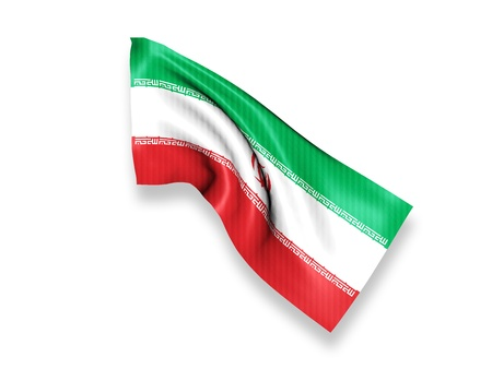 Iran Waving Flag photo